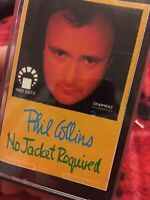 "PHIL COLLINS  "" NO JACKET REQUIRED ""  CASSETTE"