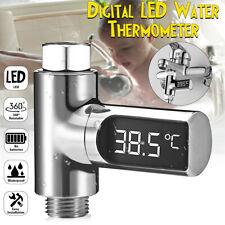 Loskii LCD Wasserhahn Dusche Bad Armatur Wasserfall mit LCD Digital Anzeige E C