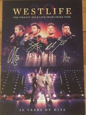 WESTLIFE SIGNED PRINT A3 SIZE-  THE TWENTY TOUR LIVE CHOKE PARK +PROOF PROVIDED