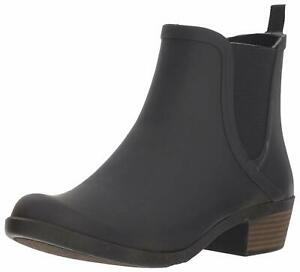 Lucky Brand Womens baselh20 Rubber Almond Toe Ankle Cowboy, Black, Size 7.0 FZ02