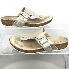 HOTTER Resort Pale Gold Toe Post Slip On Sandals Size UK 6 (eu39) Women's Ladies