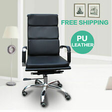 Eames Office Chair Leather Chair Management Executive Ergonomic 360 Swivel 1pcs