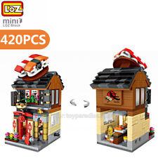 Loz Mini Blocks Diy Kids Adult Building Toys City Street Sushi Bar View Store