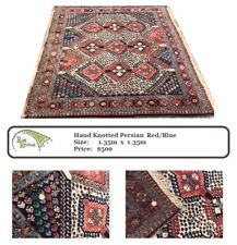 Hand Knotted Persian Red/Blue Rug