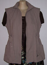 Beige Sleeveless Wind Breaker Hooded Jacket Lined Size M/12 Over Coat