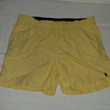 Mens Polo Ralph Lauren Swim Trunks Lined Size Large Yellow