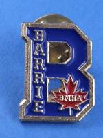 BARRIE MINOR HOCKEY BMHA ONTARIO CANADA  PIN SOUVENIR VINTAGE BUTTON COLLECTOR