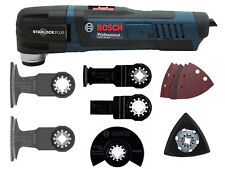 Bosch MultiCutter GOP 30-28 + 7tlg Zubehör Set Starlock Tauchsägeblatt Schleifpl
