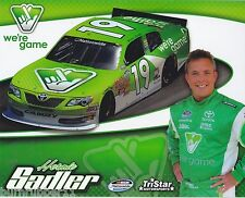 "2014 HERMIE SADLER ""VIRGINIA LOTTERY"" #19 BRISTOL NASCAR NATIONWIDE POSTCARD"