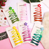 7/10pcs Sets Sweet Hair Clip Hairpins BB Women Solid Color Flower Barrettes