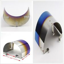 2.5-3.5stainless steel titanium blue heat shield air inlet mushroom filter cover