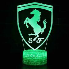 3D Ferrari LED Acrylic Desk Lamp Lantern Night light Kid Cartoon Gift 7 color