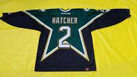 Captain Derian Hatcher Dallas Stars Jersey Mens XL green KOHO extra large