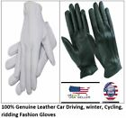Men's thin unlined Police, Pilot, Driving Fashion soft Sheep 100% Leather Gloves