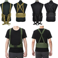 Molle Padded Waist Belt Military Mens Cummerbunds H-Shape Suspender Gun Pistol