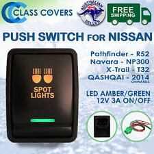 12V Nissan NP300 Navara Pathfinder R52 XTrail T32 Push Switch - SPOT LIGHTS