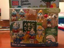 "Mega Bloks Smurfs ""Schoolin' Smurfs'  Building Playset-New in Packaging"