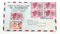 VENEZUELA - Airmail Commercial Cover - 1953 - Multi-franked To England