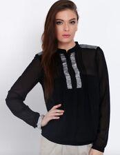 BNWT VERO MODA @ ASOS black kannika sequin see through blouse size XS 6 8 £32