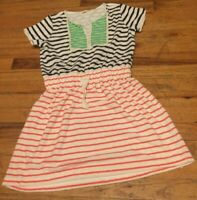 CREWCUTS GIRLS SIZE 12 BEAUTIFUL TERRY CLOTH STRIPED DRESS/COVER-UP