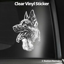 "German Shepherd Dog 5"" Clear Gloss Decal Sticker Alsatian GSD K9 Art Print L11"