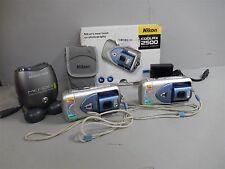 2x Nikon Coolpix 2500 2MP 3X Optical Zoom Digital Cameras Tested, Works