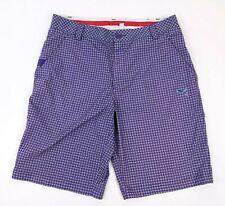 PUMA Men's Size 32 Golf Shorts Purple Houndstooth Performance Flat Front