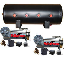 DC480 Pewter Dual Air Compressors 5 Gallon Air Tank Kit Parts Press Switch