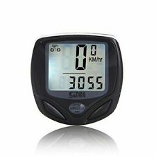 JSG Accessories Wireless Bike Computer Odometer Average Speed for Bicycle with LED Light - Black