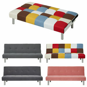 Upholstered Sofa Bed Sleeper Recliner Chair Beds 2 Seater Couch Settee Sofabed