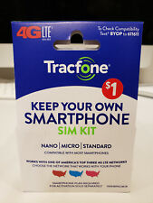 New ListingTracFone Bring Your Own Phone Sim Card Kit - At&T, Verizon & T-Mobile