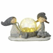 Boy & Girl with LED Light Christmas Decoration by Heaven Sends
