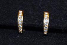 ORECCHINI VINTAGE Oro 18kt Diamanti 0,48 ct IDEA REGALO Gold Earrings Diamonds