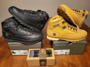 Timberland EURO HIKER Wheat Black Sneakerboot SET 91566 56038 sz 9/9.5 SOCKS