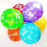 21th Ballons Anniversaire avec Imprimé chiffres fête latex qualité - Paquet de