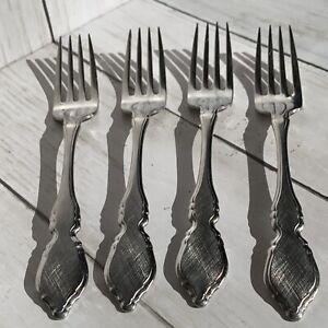 4 Dinner Forks Oneida CLASSIC MOOD DEAUVILLE PRESCOTT Stainless OCO