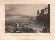 1860 ANTIQUE PRINT INDIA - ASSEMBLAGE OF PILGRIMS BEFORE HURDWAR, BENGAL PRESIDE