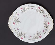 Paragon Bread and Butter, Cake Plate, lovely condition, floral design, gold edge