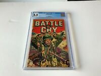BATTLE CRY 4 CGC 5.5 ONLY 1 GRADED HIGHER PRE CODE WAR GREAT COVER STANMOR COMIC