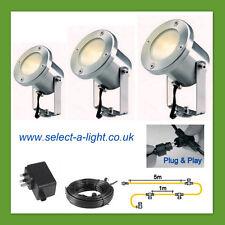 Techmar Garden Spot Lights CATALPA (3 Set) - Plug & Play System