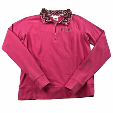Victoria's Secret Pink 1/4 Zip Long Sleeve Stretch Pullover Shirt Size XS