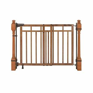 """Summer Banister & Top of Stairs Baby Gate 33"""" Fit 32-48"""" Honey Oak Wood Finish"""
