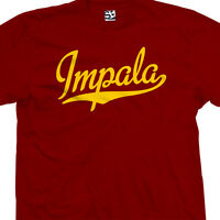 Impala Script Tail T-Shirt - Classic Car Lowrider Team Tee - All Sizes & Colors