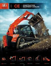 Kubota Construction Equipment Catalog Sales And Specifications Brochure