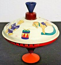 Antikes Blechspielzeug Kreisel mit Handaufzug großer Kinder Brummkreisel *1479