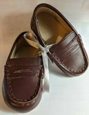 Janie & Jack 2015 Toddler Boys Brown Leather Dress Loafers Shoes Size 4 NWT
