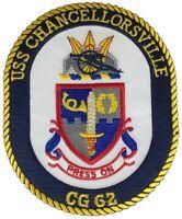 USS CHANCELLORSVILLE CG-62 PATCH NAVY SHIP MISSILE CRUISER TICONDEROGA CLASS