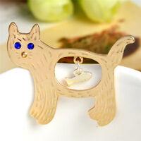 Enamel Animal Cat  Shirt Collar Pins Badge Corsage Cartoon Brooch  Jewelry Gift