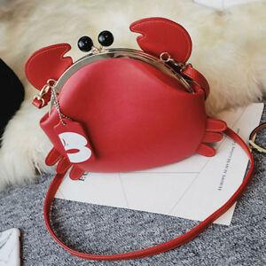 Women's Funny Crab Animal Satchel Shoulder Tote Messenger Crossbody Bag Handbag