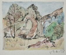 Sigrid artes-o. t. - colorierte aguafuerte - 1978